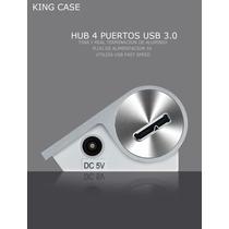 Hub Aluminio 4 Puertos Usb 3.0 Compacto Alimentado