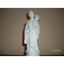Inospeli Figura Dama Oriental Con Flores. Porcelana