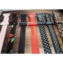 Cintos Moño Pin Up Vintage Rojo Negro Lunares Cerezas Print