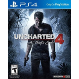 Juego Uncharted 4 A Thief's End Ps4 Cd Nuevo Físico Sellado