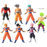 Set Lote X2 Muñecos Dragon Ball Super Goku Black Broly Jiren