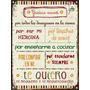 Cartel De Chapa Vintage Dia De La Madre D010