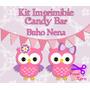 Kit Imprimible Candy Bar Buho Nena