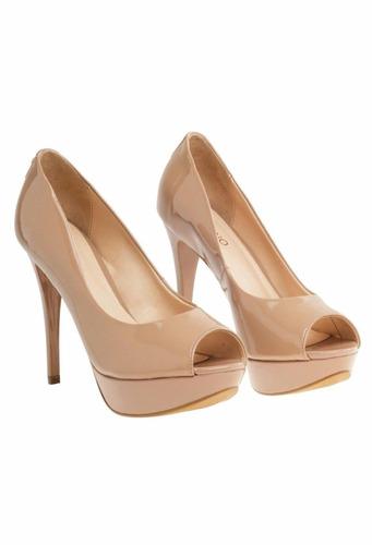 2a2d2c35 Zapatos Vía Uno Nuevos - Sin Uso - Color Nude - Talle 38