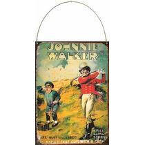 Cartel Chapa Publicidad Antigua Whisky Johnnie Walker L573