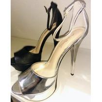 Zapatos De Fiesta Plata Y Negro Mate!! Envío Gratis!!