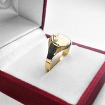 2262a5bc8d47 Busca anillo sello oval plata oro cubics una inicial con los mejores ...