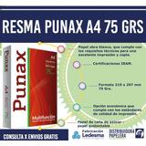 Resma A4/75 Grs Punax (consulta Por Envíos Gratis!!)