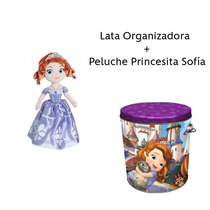 Lata Organizadora + Peluche Princesita Sofía Disney Combo