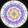 Cuadro De Mandala Impreso En Canvas Sobre Bastidor, 80x80