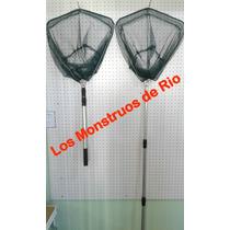 Red Copo De Pesca Extensible Pegable Ideal Variada Y Trucha