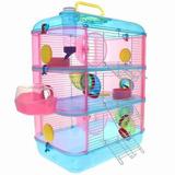 Hamstera 3 Pisos Jaula Hamster Completa - Pet Shop Beto
