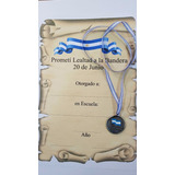 Combo  Medalla Pintada Lealtad A La Bandera+diploma+cinta