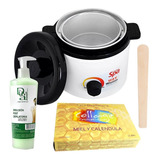 Calentador Cera Teknikpro 1kg + Cera + Emulsion + Espatula