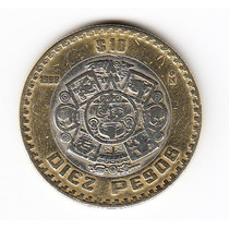 Mexico, 1998 - Moneda De 10 Pesos, Bimetalica, Usada