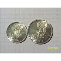Argentina Mundial 78 1000 Y 2000 Pesos Plata 1978 25 Gr