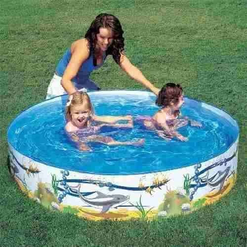 Piscina enrollable circular 152 x 25cm muy practica 499 for Garden paddling pools