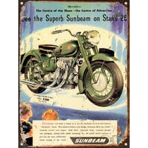 Cartel Chapa Publicidad Antigua 1948 Sunbeam P273