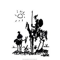 Lamina - Don Quijote - Pablo Picasso - 45 X 60 Cm.