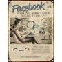 Cartel De Chapa Vintage Retro Facebook M309