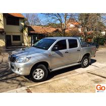 Toyota Hilux 2.5 4x4 Dx D/c Pack L12 Gris Unica Mano 2013