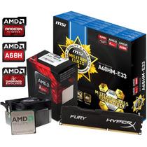 Combo Actualizacion Amd Apu A10 7850k +a68 C Hdmi + 8gb Fury