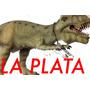 Dinosaurio Tiranosaurio De Látex En La Plata Irrompible 71cm
