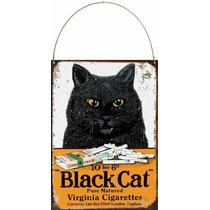 Cartel Chapa Publicidad Antigua Cigarros Black Cat P691
