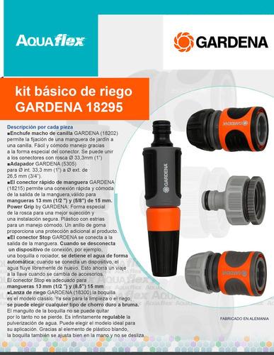 Kit Riego 5 Piezas 1/2`` Power Grip Gardena 18291 Aquaflex
