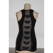 Musculosa Original Con Calado En Crochet En Espalda