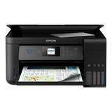 Impresora A Color Multifunción Epson Ecotank L4160 Con Wifi 110v/220v Negra