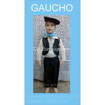 Disfraz Patrio Gaucho Vendedor Caballero Coya Talle 4/6/8/10