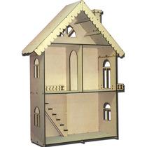 Casa De Muñecas Mansion 75x98x25 En Fibrofacil (11402)