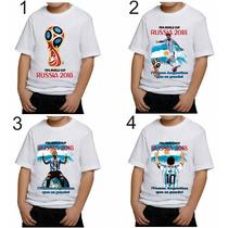 Remera Camiseta Mundial Fútbol Rusia 2018 Argentina Messi