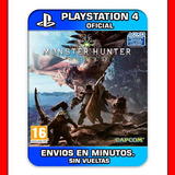 Monster Hunter World Ps4 :: Digital :: Mejor Juego Del 2018