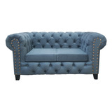 Sofa Chester Sillon Chesterfield 2 Cuerpos Fabrica Bufalosin