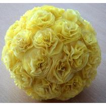 Esferas Con Flores De Papel . Colgantes O Centros De Mesas