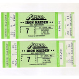 Entrada Coleccionable Iron Maiden 1987