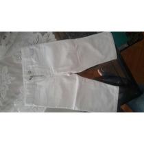 Pantalon Blanco De Bebe Mini Mimo
