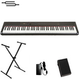 Piano Teclado 88 Teclas Artesia Sensitivo + Pedal + Soporte