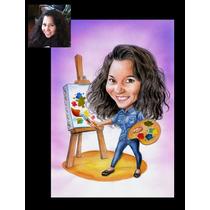 Caricaturas A Color Personalizadas Por Encargo