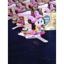 Minnie O Mickey Bebé Souvenir Primer Año Decorado