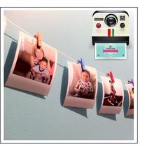 Guirnalda De 12 Fotos Polaroid + Soga + 12 Minibroches