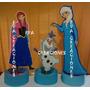 Centros De Mesa Frozen Anna Olaf Elsa En Goma Eva