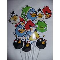 Toppers Para Cupcake Angry Birds Candy Bar Cotillón