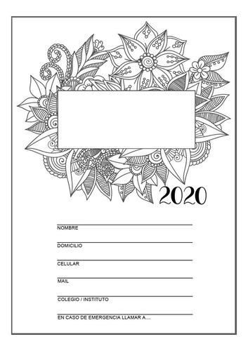Agenda Mandalas 2020 Para Pintar .pdf Para Coser O Anillar