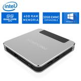 Mini Pc Windows Intel Quad Core 4gb Ram Wifi Bluetooth Hdmi