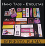 2000 Etiquetas Para Ropa - Hang Tags Medida 9x2.5 Cm