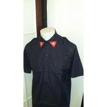 Camisa Azules Rip Stop - Mangas Cortas - Bomberos - T Comun