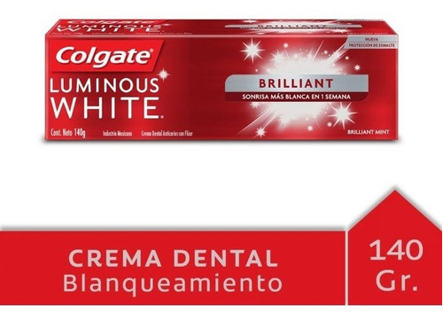 Colgate Luminous White Tubo 140 G